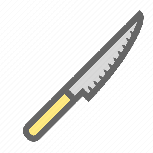 cook, cut, cutlery, daily, kitchen, knife, objects icon