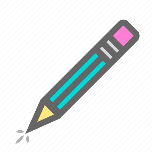 create, daily, drawing, objects, pencil, school, writing icon