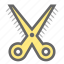 cut, cutting, daily, objects, school, scissors, stationery icon