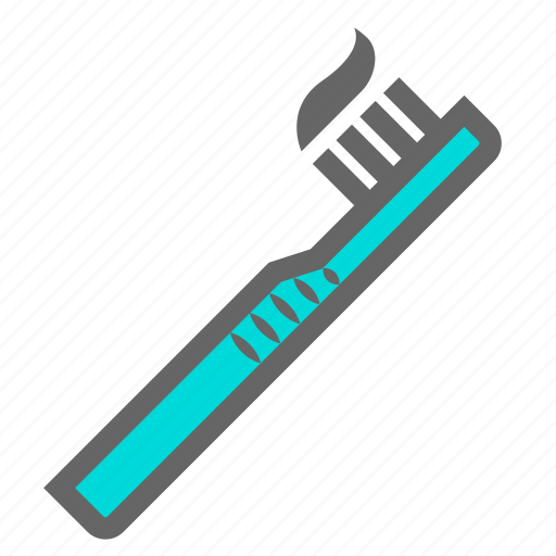 bathroom, daily, health, mouth, objects, teeth, toothbrush icon