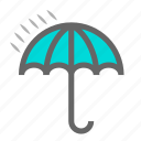 daily, forecast, objects, protection, rain, umbrella, weather icon