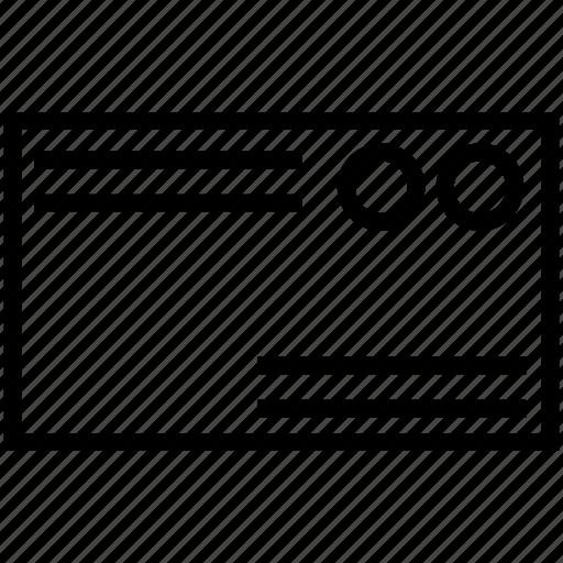 address, card, sale icon