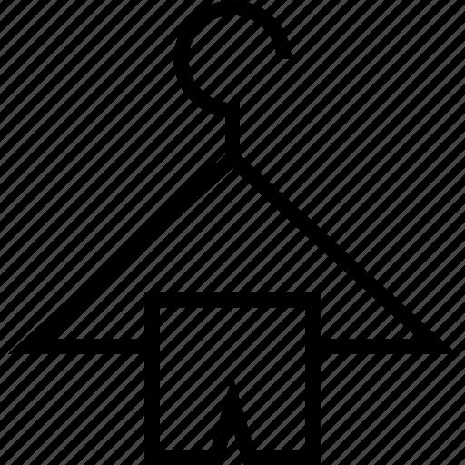 clothes, hanger, sale icon