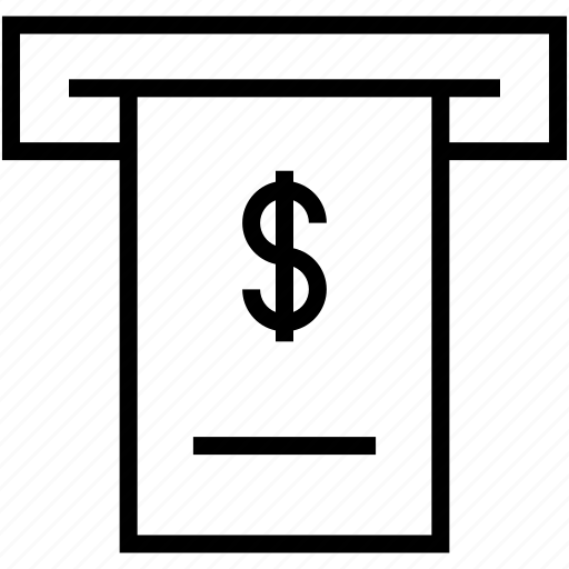 note, print, receipt, sale icon