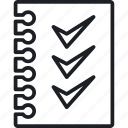 checklist, job, work icon