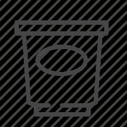curd, dairy, food, yogurt icon