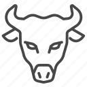 animal, beef, bull, cattle, cow, dairy icon