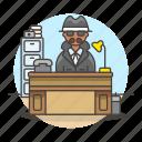 detectives, danger, investigator, crime, phone, male, detective, desk, office, private, cabinet