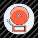 alarm, bell, crime, danger, emergency, fire, motorized, rescue, school, system icon