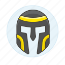 crime, danger, empire, gladiator, helmet, roman, swordsman, warrior, weapons icon