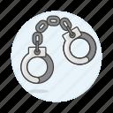 arrest, convict, crime, danger, handcuff, penitentiary, prison, prisoners icon