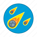 celestial, crime, danger, disaster, disasters, event, meteor, natural, shower icon