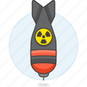 1, bomb, crime, danger, explosive, nuclear, nuke, radiation, sign, symbol, weapons icon