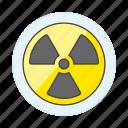 contamination, crime, danger, hazardous, nuclear, radiation, sign, symbol, toxic