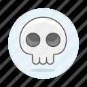 1, crime, danger, death, poison, skeleton, skull, virus icon