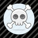 2, crime, crossbone, danger, death, poison, skeleton, skull, virus icon
