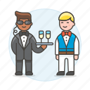 2, agent, crime, danger, disguise, earphone, event, male, social, spies, spy, undercover, waiter icon