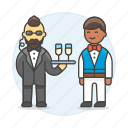3, agent, crime, danger, disguise, earphone, event, male, social, spies, spy, undercover, waiter icon