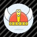crime, danger, europe, helmet, horned, northern, scandinavian, viking, warrior, weapons icon