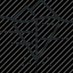 dark, darknet, deep, hidden, iceberg, internet, net, web icon