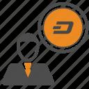 account, avatar, dash icon