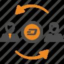 account, avatar, dash, transfer icon