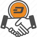 contract, dash, deal icon