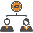 dash, money, transfer icon