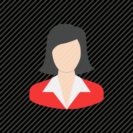 avatar, employee, female, lady icon