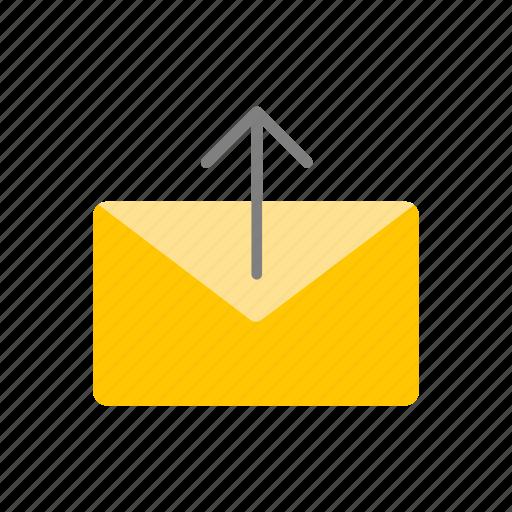 envelope, message, sending mail, sending message icon