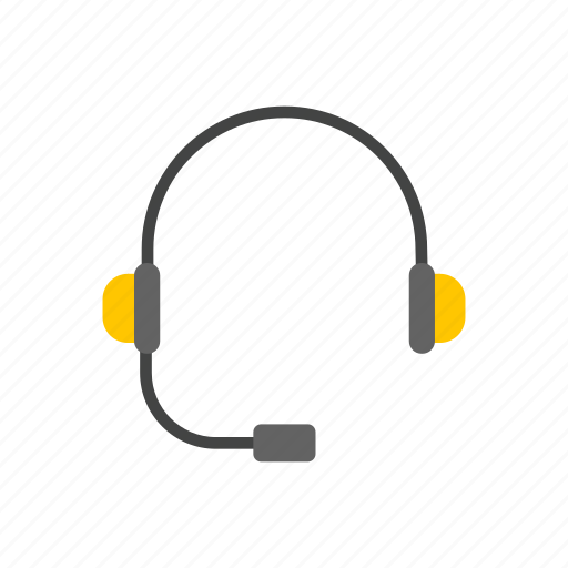 call center, earphone, headset, music icon