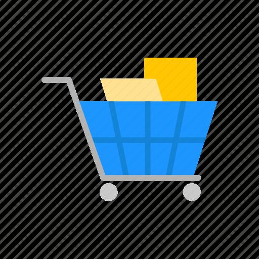 cart, grocery cart, push cart, shopping icon