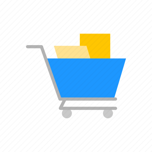 Grocery cart, shopping, cart, push cart icon