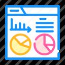 report, analysis, financial, statistical, diagram, digital icon