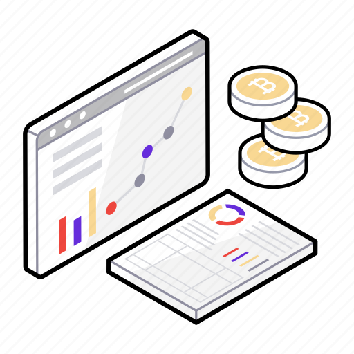data analysis, financial analysis, web analysis, web analytics, web development icon