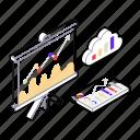 business analysis, business statistics, cloud statistics, data analytics, growth statistics icon