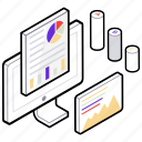 business website, data analysis, data analytics, graph analysis, online statistics icon