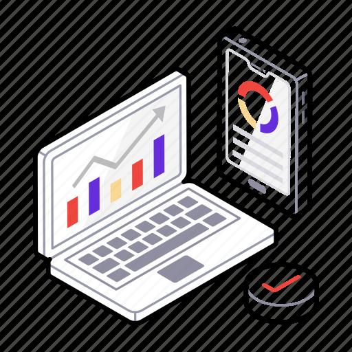 data analysis, data analytics, financial planning software, graph analysis, web statistics icon