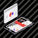 business analytics, business report, business statistics, data statistics, statistical chart icon