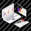 analytics, business analytics, data analytics, graphical representation, online infographic icon
