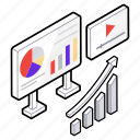 business analytics, business presentation, finance growth, graph analytics, graphical representation icon