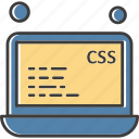 laptop, file, css, data, analysis icon