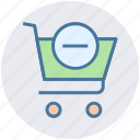 cart, commerce, minus, remove, shopping, shopping cart