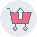 shopping, move, up, cart, upload, .svg, arrow