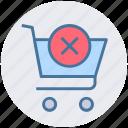 cart, cross, cross sign, shopping, shopping cart, sign