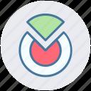 analytics, chart, circle chart, circular chart, pie chart, pie statistics icon