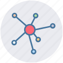 atom, connection, hierarchy, link, status icon