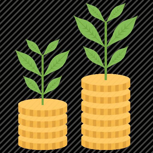 business advancement, financial enhancement, investment, money growth, money savings icon