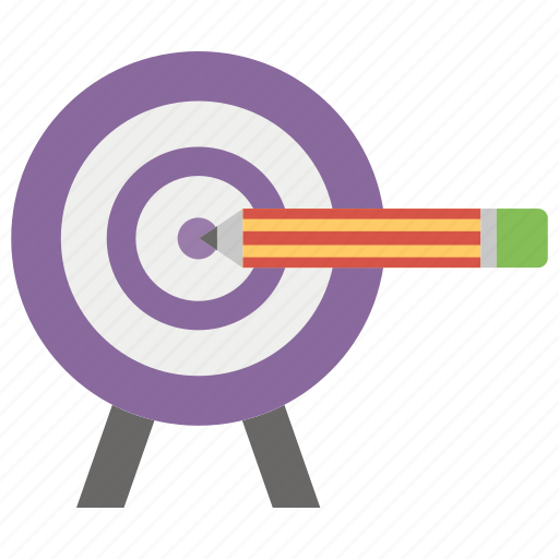 aim, archery, goal, objective, target icon