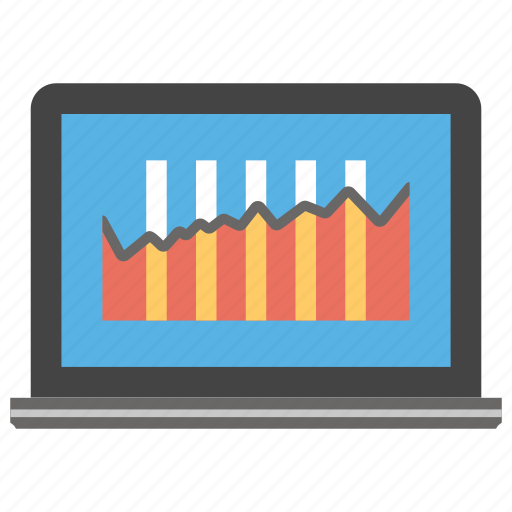data display, graph analysis, graphic application, graphical representation, online analytics icon